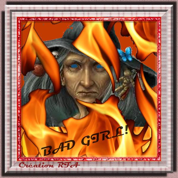 BAD GIRL - IMAGE CRÉÉE POUR L'HALLOWEEN