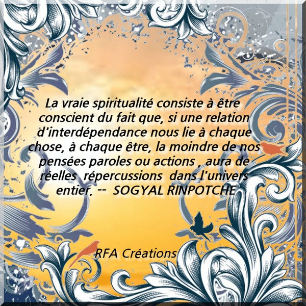 CITATION DE SOGYAL RINPOTCHE
