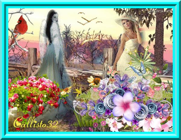ANGEL AND WOMAN/ANGE ET FEMME REMIXÉE (ma création)